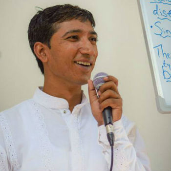 Sandeep is a Yoga teacher providing Yoga training in nepal