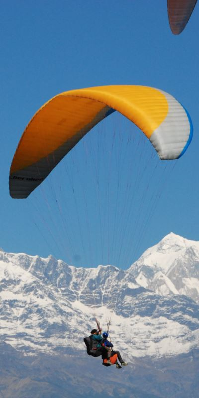 Enjoy Paragliding with Meditation retreat in himalayas
