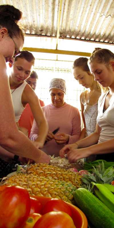 Ayurvedic Cooking class during yoga retreat