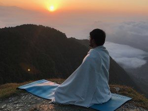 Man, Meditation, Himalays
