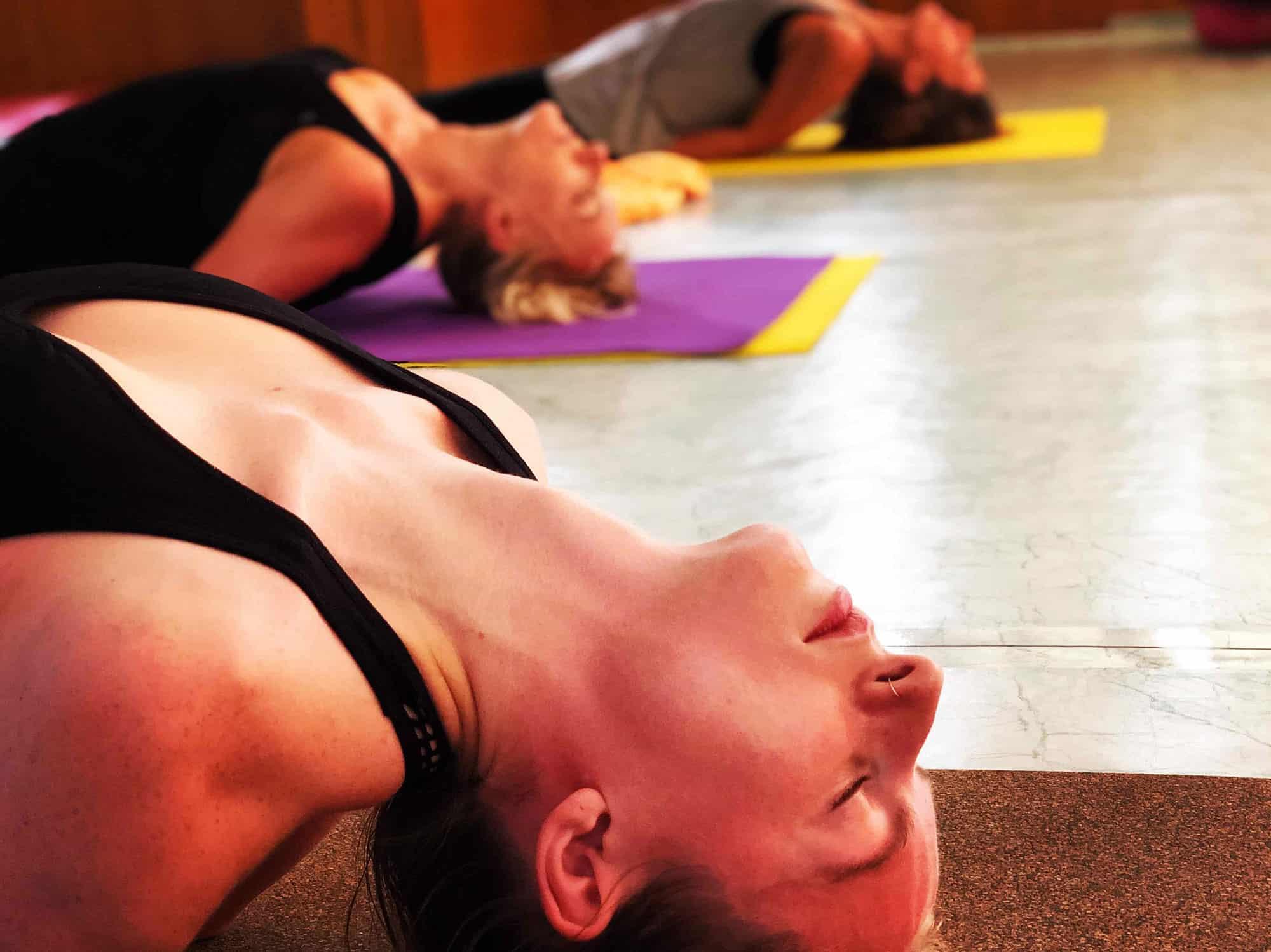 A Girl doing hatha yoga asana