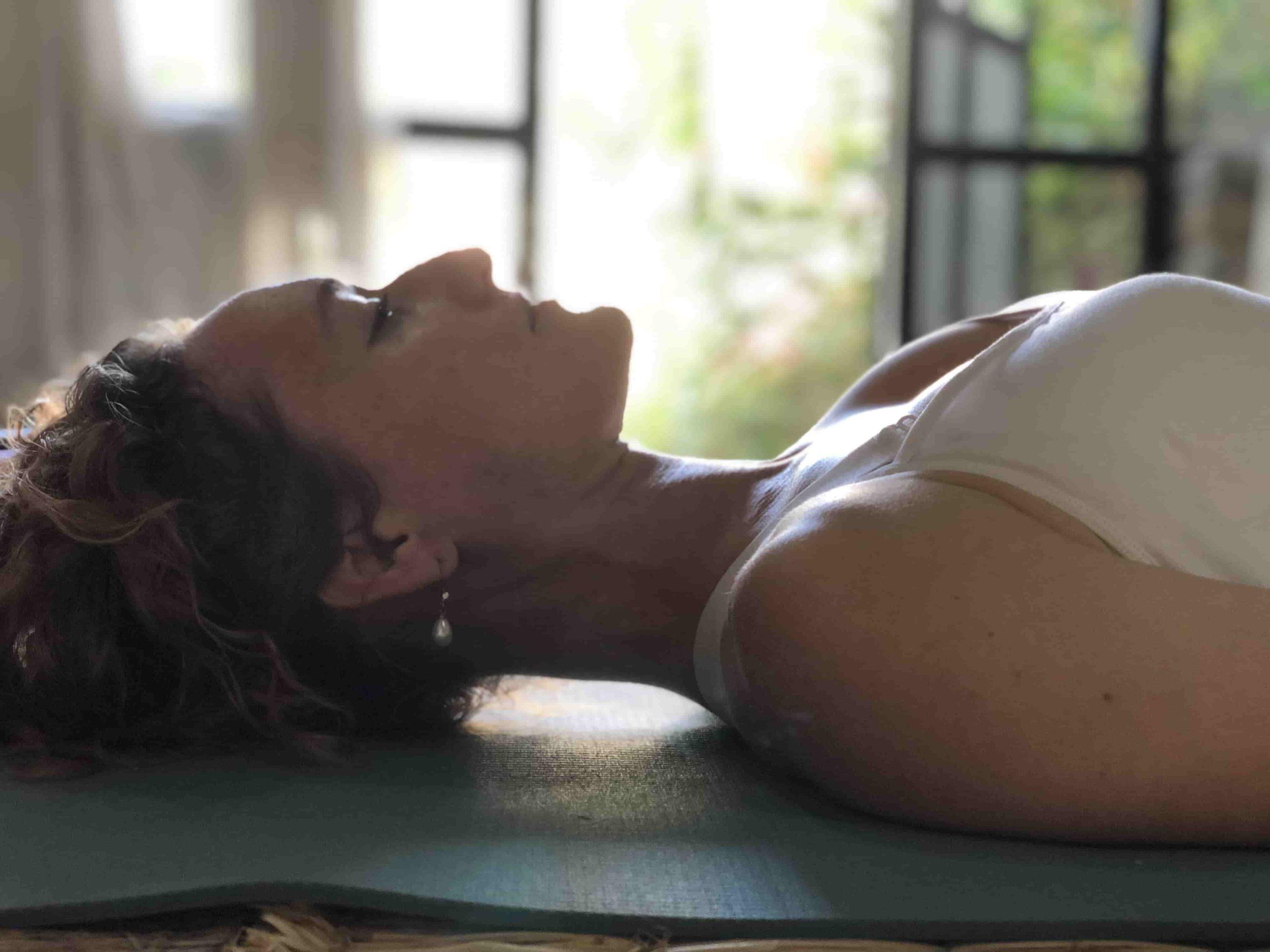 Yogi practicing Yoga Nidra