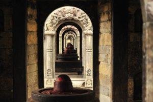 Chanting Guru Mantra in Shiva temple